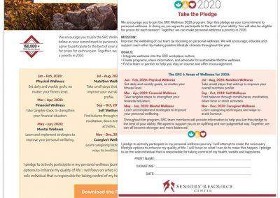 SRC Wellness 2000 Designs Landing Page, Flyer, Bracelet, and Logo Design