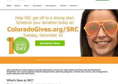 Colorado Gives Day Web Slider Design